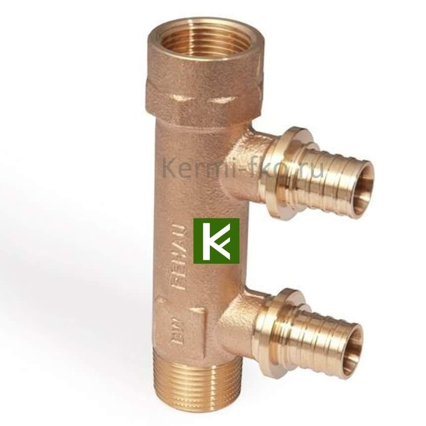 Коллектор для воды Rehau с присоединением труб на надвижных гильзах (Рехау)