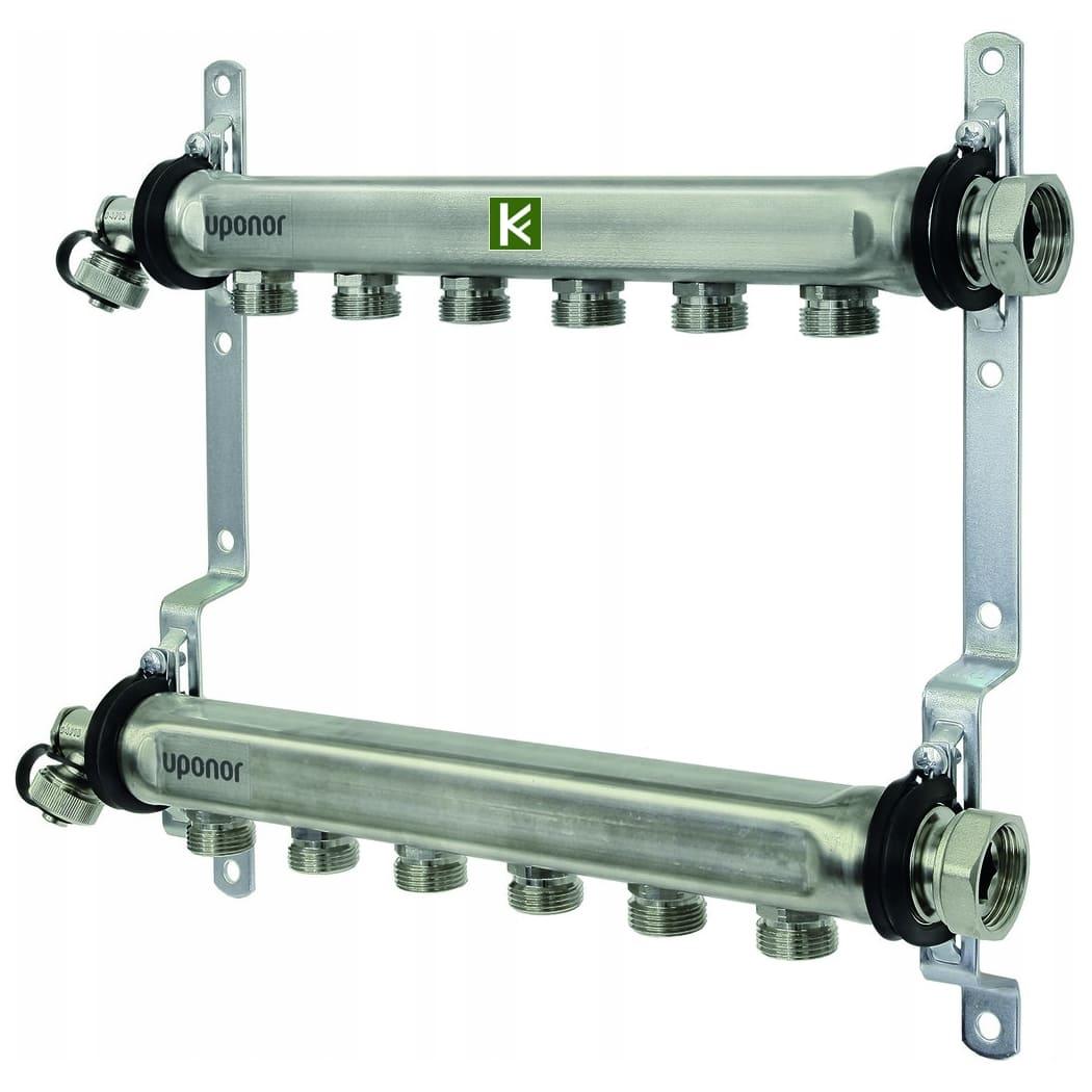 Коллекторы Uponor Uni-x для радиаторов отопления (коллектор Упонор без кранов)