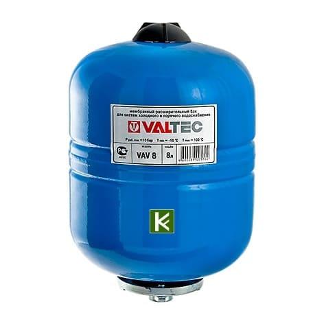 баки гидроаккумуляторы Valtec для водоснабжения (Валтек)