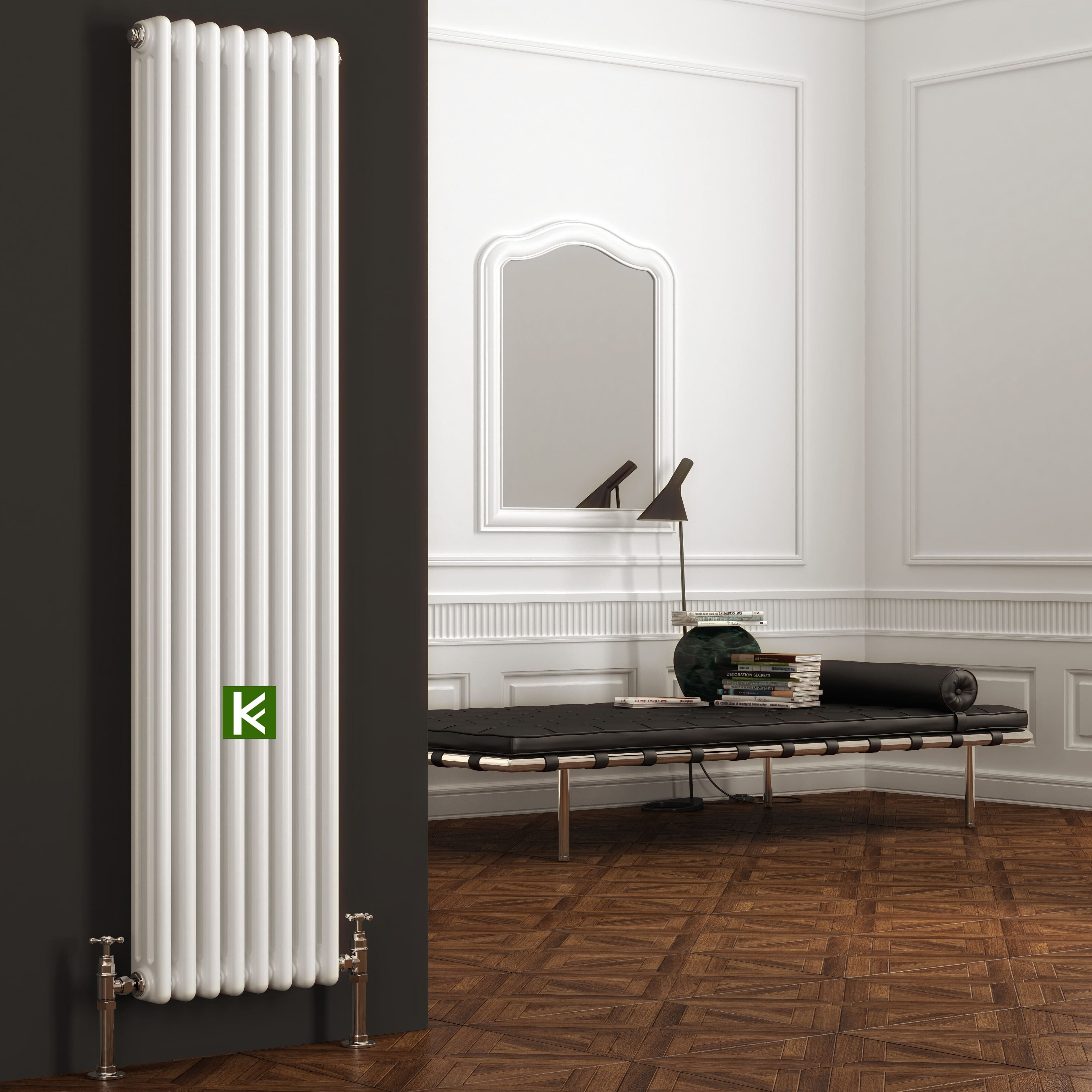 трубчатые радиаторы Zehnder Charleston 3180 - радиатор отопления Зендер с нижним подключением