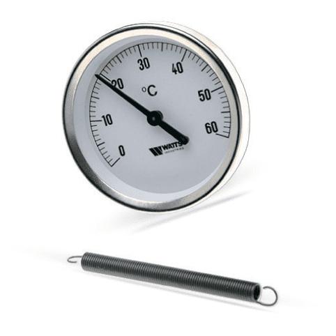 Термометр накладной на пружине Watts 10006504