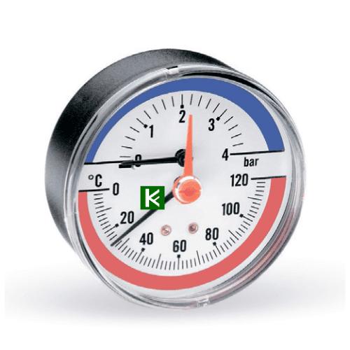 Термоманометры аксиальные Watts F+R818 (Ваттс)