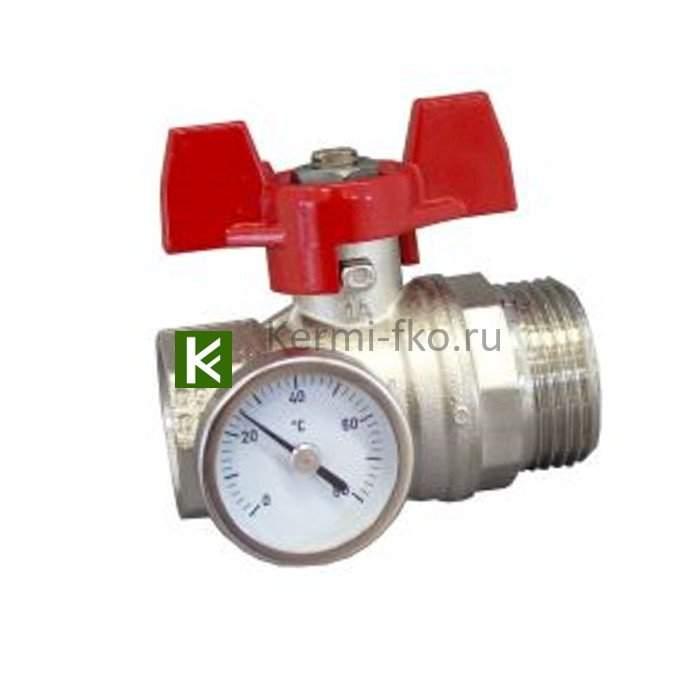 1406483 Кран с термометром Oventrop - для коллекторов Овентроп
