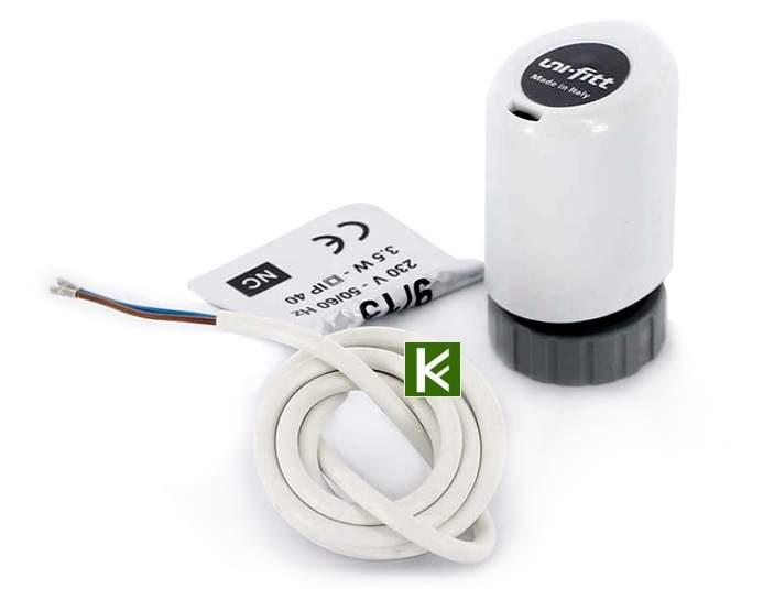 Термоэлектрические приводы на коллекторные группы Uni-Fitt (автоматика для водяного теплого пола Юнифит)