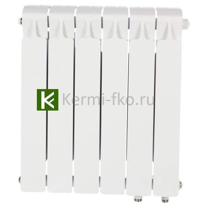 Рифар Монолит Вентил RM50006НП Радиатор RIFAR Monolit Ventil 500 6 секций, правое, MVR