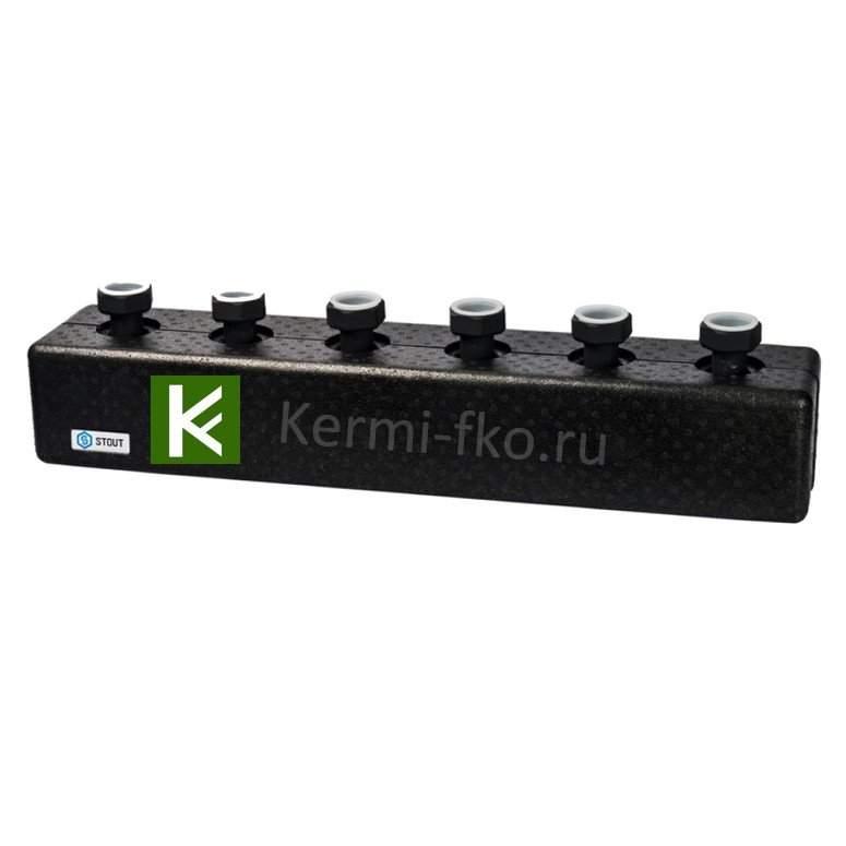 Распределительный коллектор STOUT SDG-0016-004003 для отопления (гребенки Стаут)