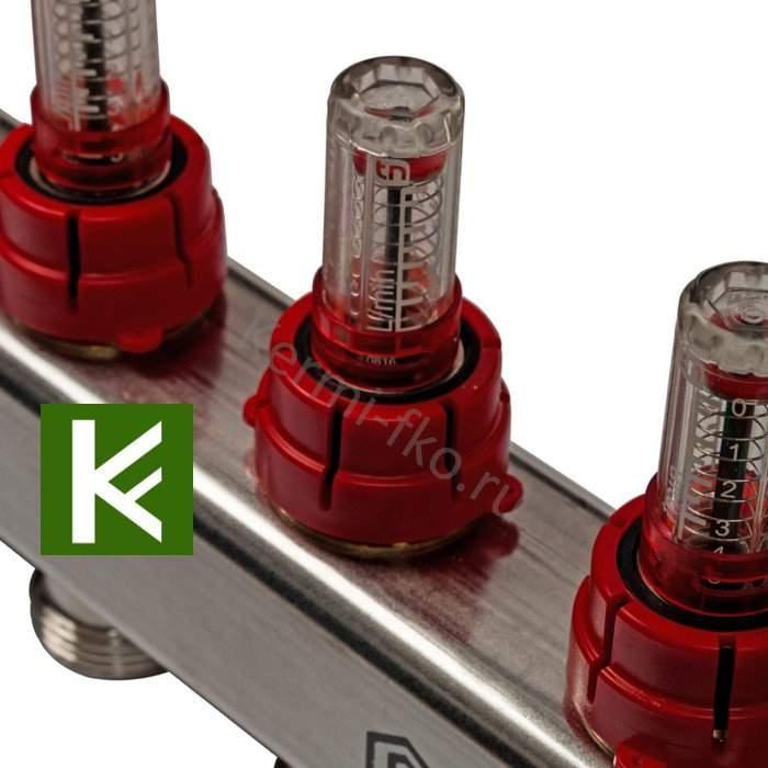 Коллектор Stout SMS 0907 000009 - коллекторы теплого пола с расходомерами Стаут