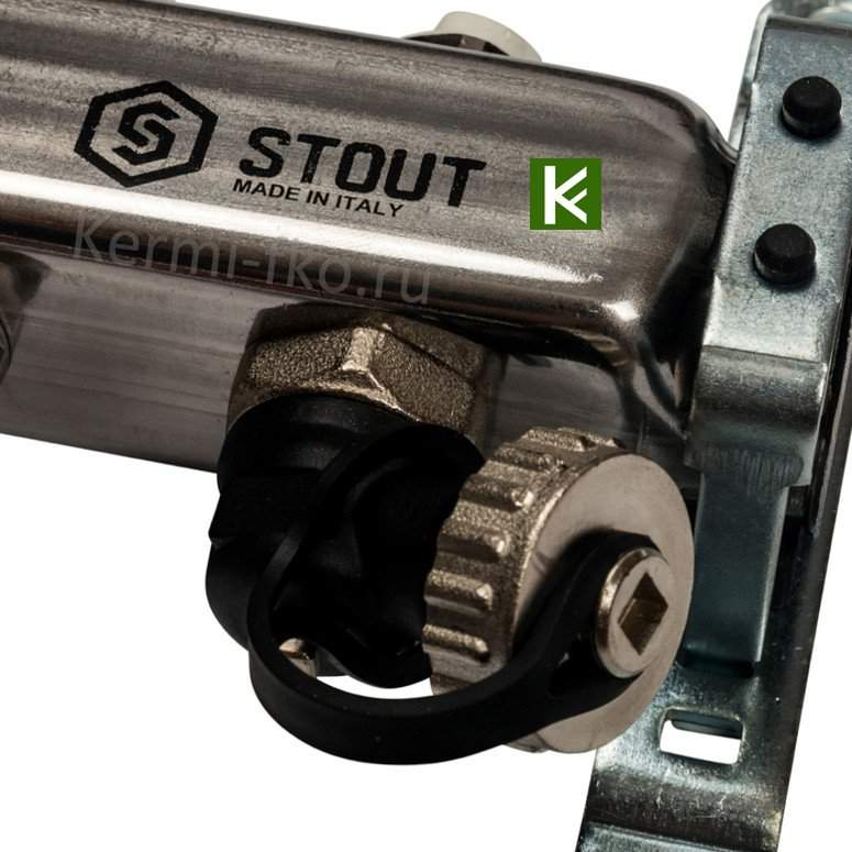 Коллектор Stout SMS-0927-000008 - коллекторы теплого пола с расходомерами Стаут