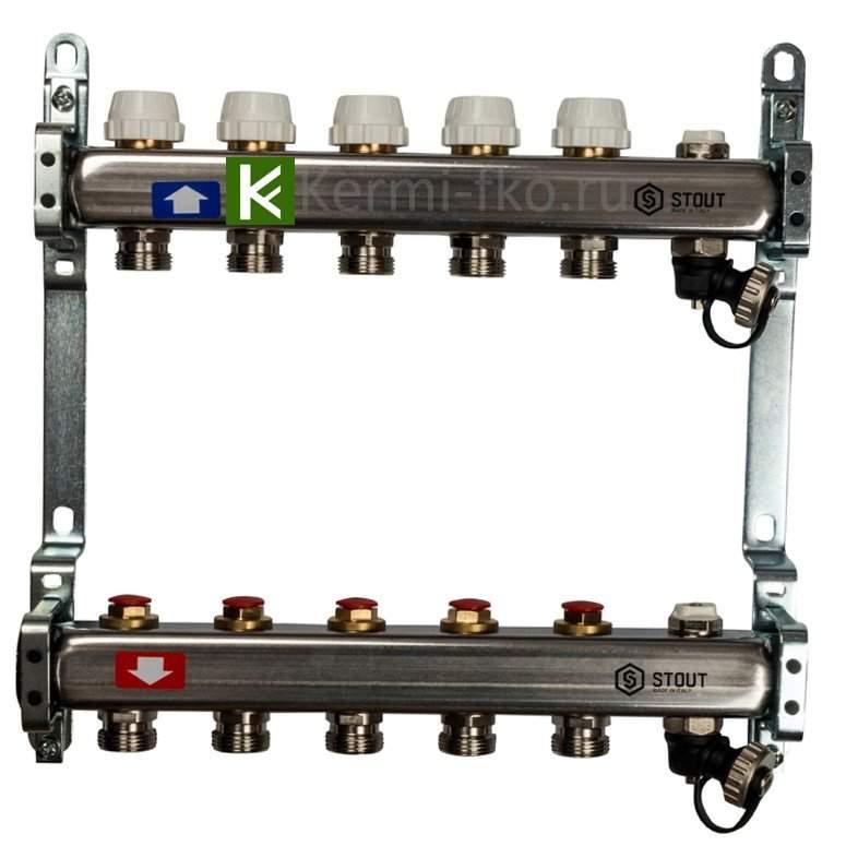 Коллекторы STOUT для радиаторной разводки (Стаут)