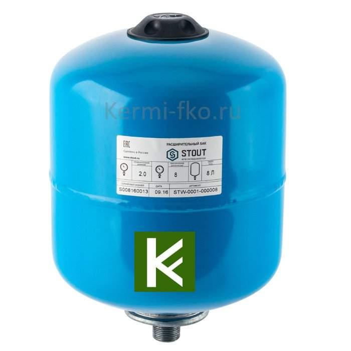 Бак гидроаккумулятор STOUT STW-0001-000008 для водоснабжения 8 л