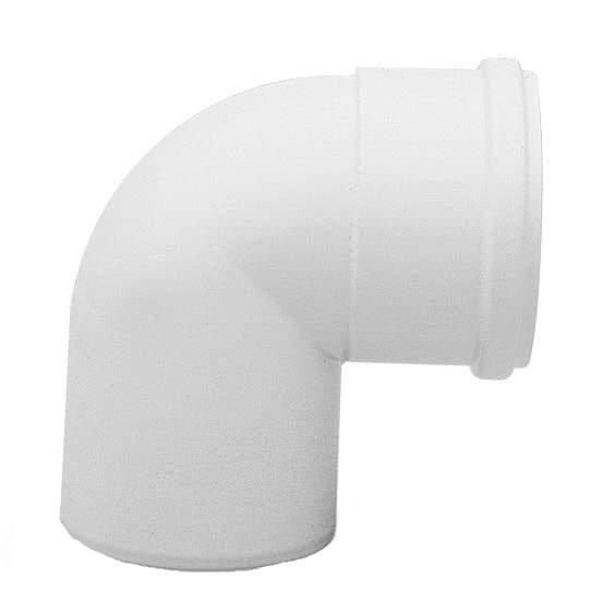 Отвод раздельного дымохода Baxi DN 80, 90° алюминиевый KHG71401801- (Бакси)
