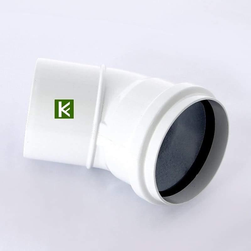 Отвод раздельного дымохода Baxi DN 80, 45° алюминиевый KHG71401811- (Бакси)