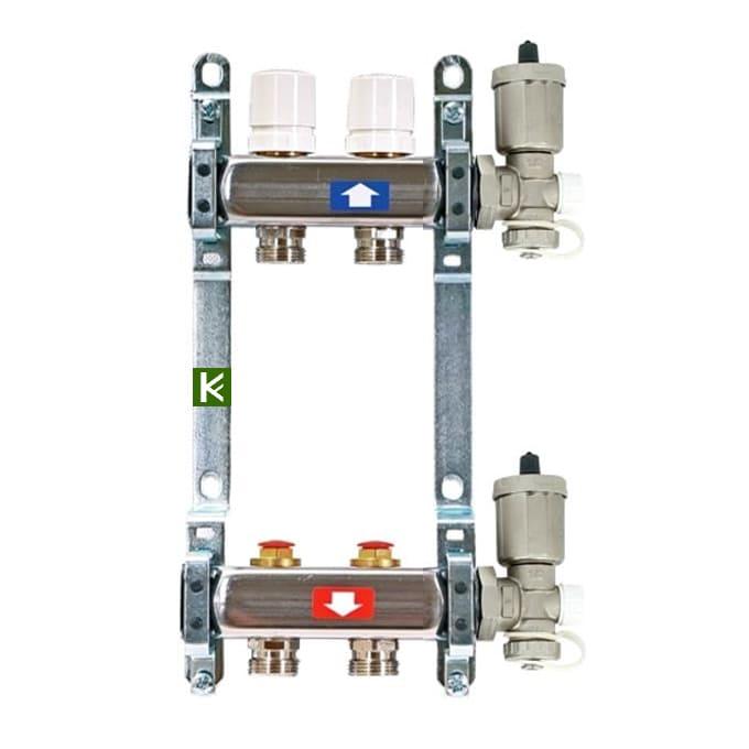 Коллекторы Uni-Fitt c кранами и автоматическими воздухоотводчиками (коллектор Юнифит)