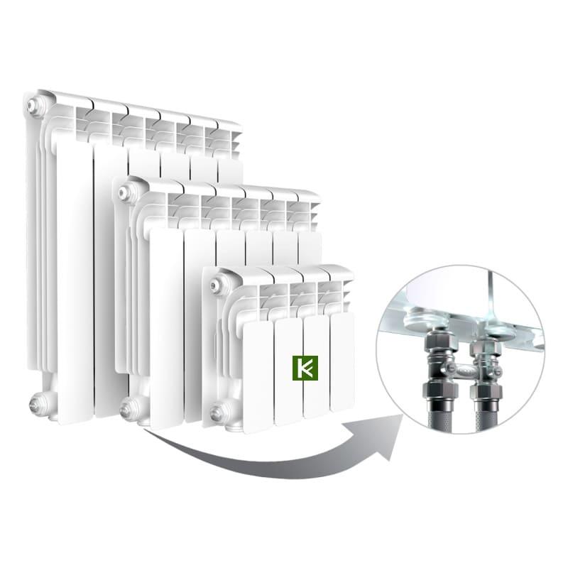 Алюминиевые радиаторы RIFAR Alum Ventil 350 с нижним подключением (батареи отопления Рифар)