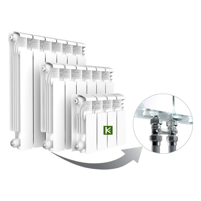 Алюминиевые радиаторы RIFAR Alum Ventil 500 с нижним подключением (батареи отопления Рифар)