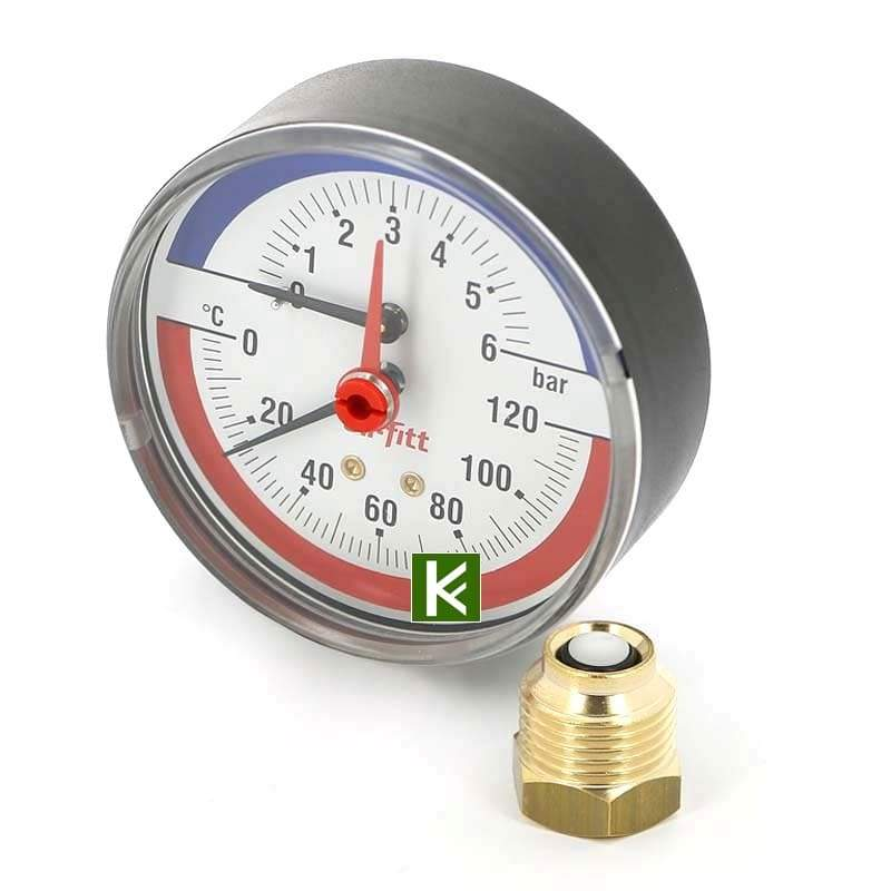 Термоманометры аксиальные Uni-fitt (Юнифит)