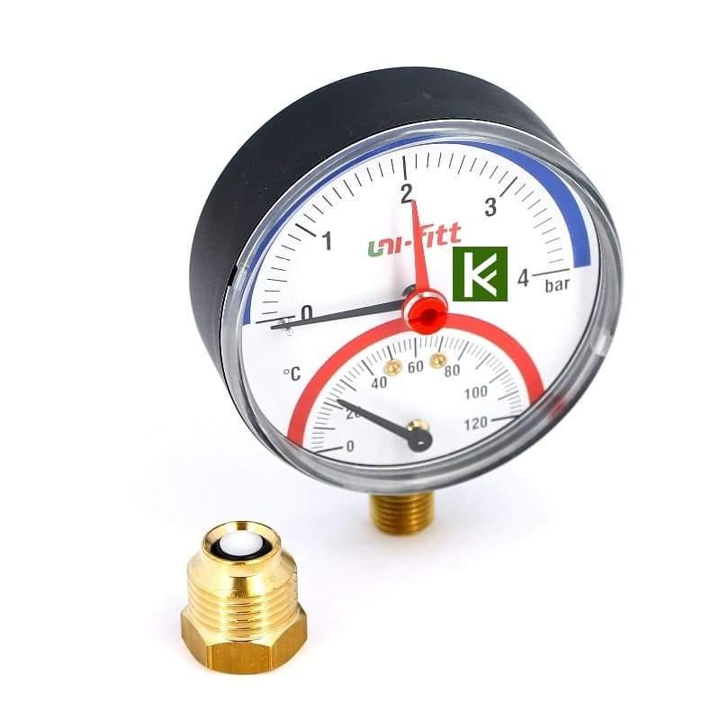 Термоманометры радиальные Uni-fitt (Юнифит)
