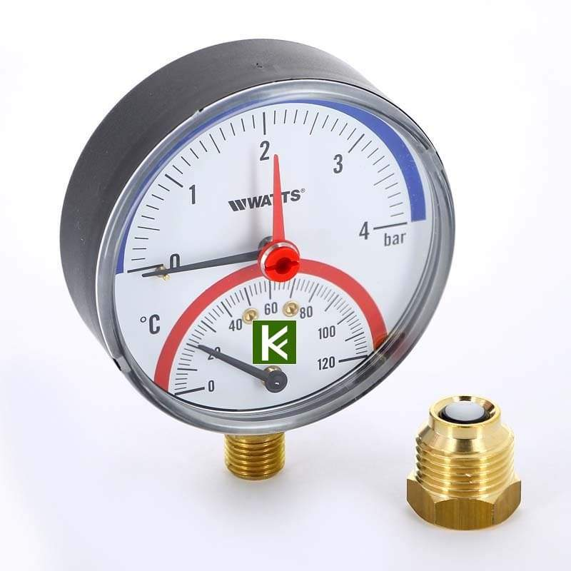 Термоманометры радиальные Watts F+R828 (Ваттс)