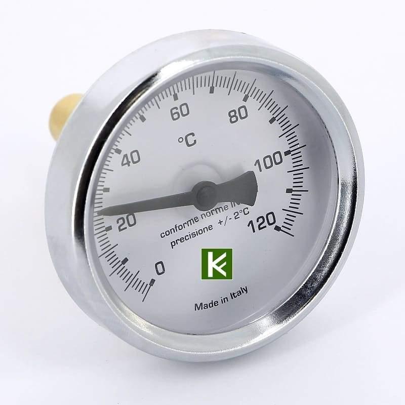 Термометр биметаллический EMMETI с погружной гильзой (Еммети)