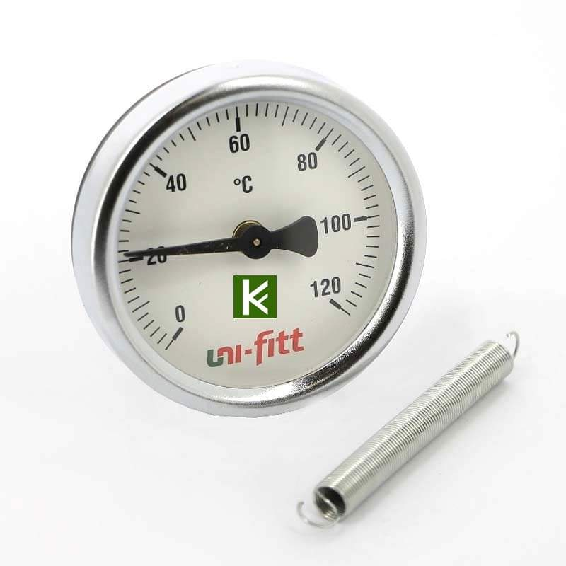 Термометр накладной на пружине UNI-FITT 320P4030