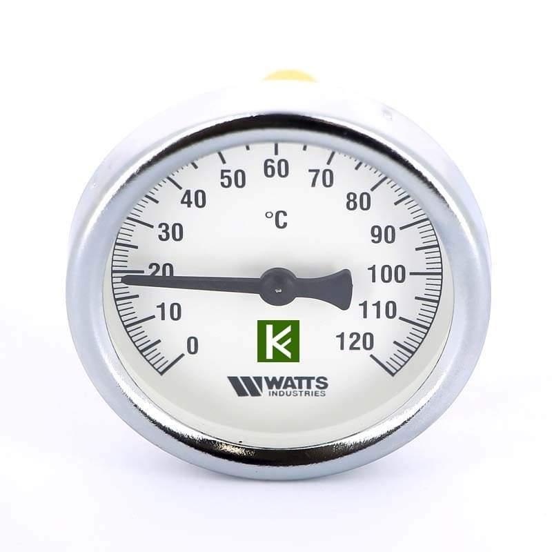 Термометры Watts F+R801 биметаллические с погружной гильзой 1/2