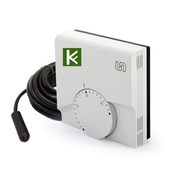 Комнатный проводной термостат Uni-Fitt 342M1000 - автоматика для водяного теплого пола Юнифит