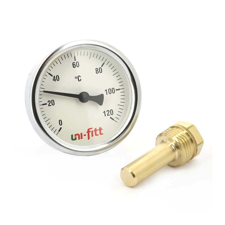 Термометры аксиальные Uni-fitt с погружной гильзой (Юнифит)