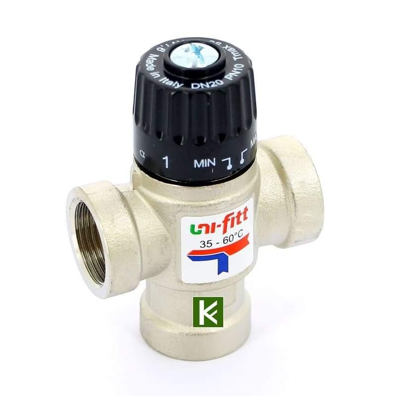 Трехходовой термостатический клапан Uni-Fitt 350N3130 Юнифит