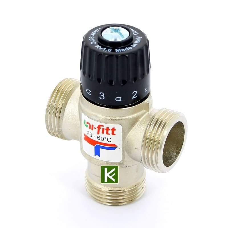 Трехходовой термостатический клапан Uni-Fitt 351N3140 Юнифит