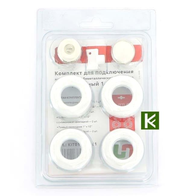 Комплект для подключения радиатора Uni-Fitt KIT0112SIL11