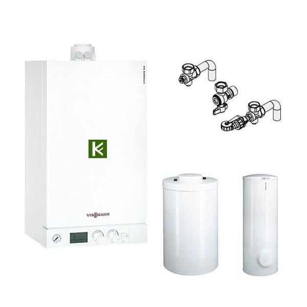 Газовые конденсационные котлы Viessmann Vitodens 100-W с бойлером Vitocell в комплекте