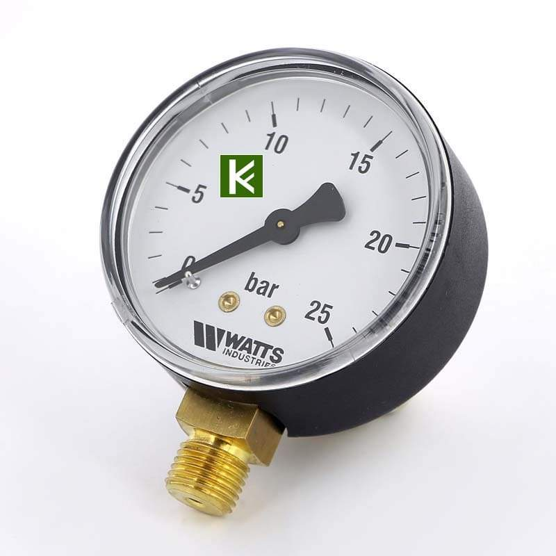 Манометры радиальные Watts 25 bar (Ваттс)